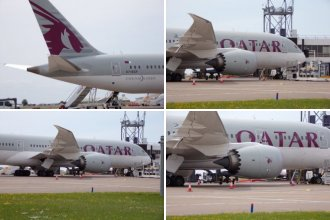 Qatar Airways at Cardiff Airport