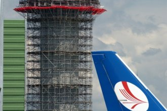 Manchester airport tower construction