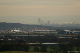 Leeds Bradford Airport from the Chevin