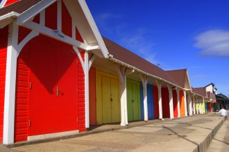 Beach Huts, North Bay, Scarborough, North Yorkshire