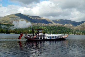 Steam Boat S.Y. Gondola on Coniston Water in the Lake District, 7th September 2016