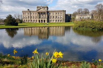 Lyme Hall in the Spring sunshine, 2nd April 2017
