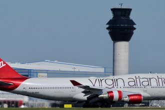 Virgin Atlantic Boeing 747-4Q8 G-VBIG at Manchester Airport 03.05.2017