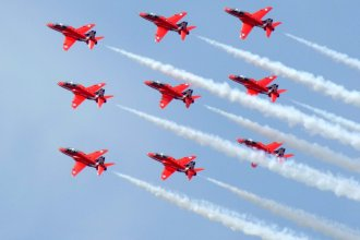 Red Arrows. RIAT Fairford, 12th July 2014
