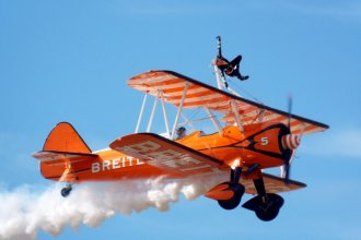 Breitling wingwalker, Southport Airshow 2017. 17.09.17