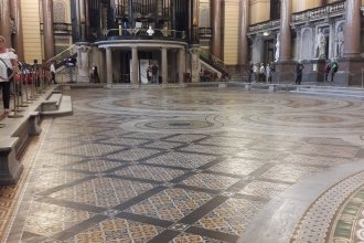 Minton tidied floor St George's Hall in Liverpool