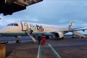 Flybe at Cardiff Airport - YouTube