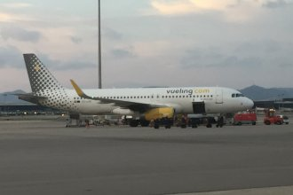Vueling A320 on ramp at Barcelona BCN