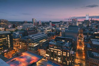2one2 Tower on the Birmingham skyline