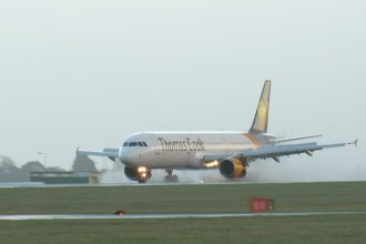 Thomas Cook A321 (Avion Express) arriving from Manchester for a rugby charter to Rome
