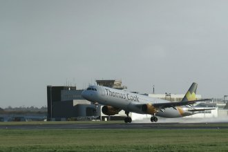 Thomas Cook A321 (Avion Express) departing for Rome