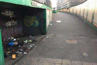 Rubbish Part of Birmingham City Centre