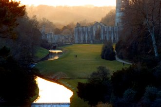 Surprise view at Fountains Abbey