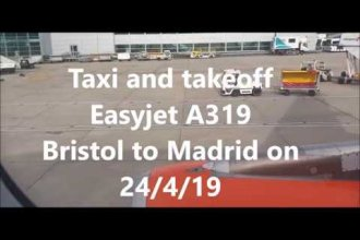 Takeoff: Easyjet A319 Bristol to Madrid