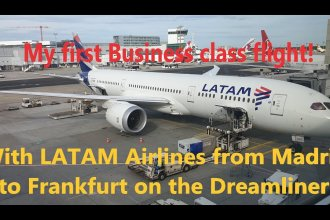 Trip Report: LATAM Airlines Madrid to Frankfurt. My first Business class flight!
